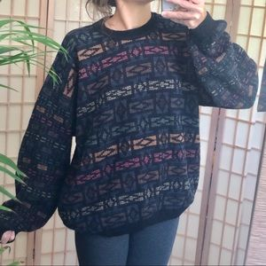 Eclectic Lithuanian baggy charcoal sweater